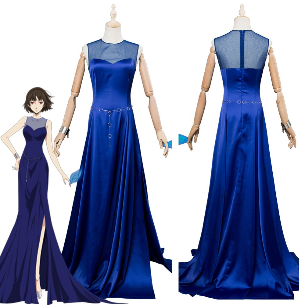 Persona 5 Makoto Niijima Cosplay Costume Dress Evening dresses Women Girl's Halloween Carnival dresses Costumes Custom Made