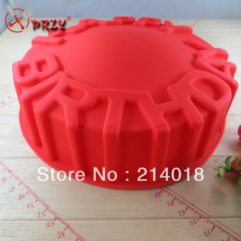 Silica Gel HAPPY BIRTHDAY Cake Mold The Food Safety Certification Baking Pan Silicone Mould NS310 In Molds From Home Garden On