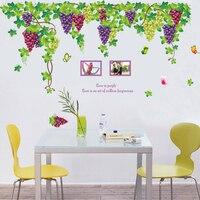 Cực lớn trái cây màu tím nho dán tường đối living room wall art bức tranh tường trang trí diy removable pvc đề can
