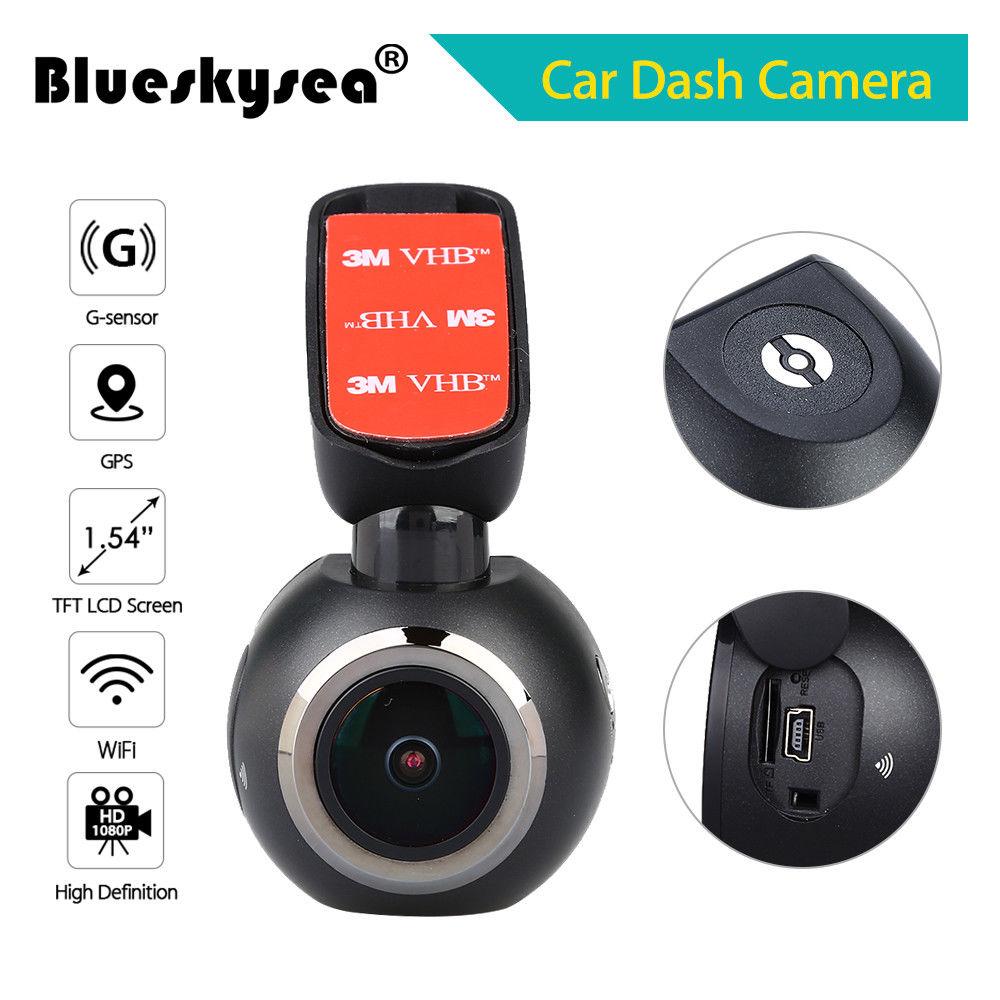 Blueskysea Q1 1 54 TFT Screen Dashboard Camera WiFi GPS LDWS Car Dash 1920 1080 170degree