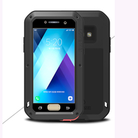 For Samsung Galaxy A5 2017 Case A3 2017 Aluminum Metal Case Gorilla Glass Aluminum Silicone Cover For Samsung A5 2017 Armor Capa
