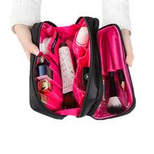 New Style Double Layer Storage Bag Travel Portable Toiletries Cosmetic Bags Organizer Makeup Beauty Case Accessories Supplies
