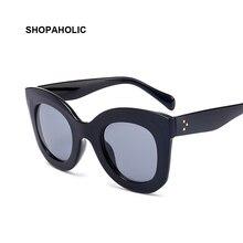 2017 Fashion Big Frame Sunglasses Women Brand Designer Vintage Rivet Shades Female Sun Glasses for Women Oculos De Sol Feminino