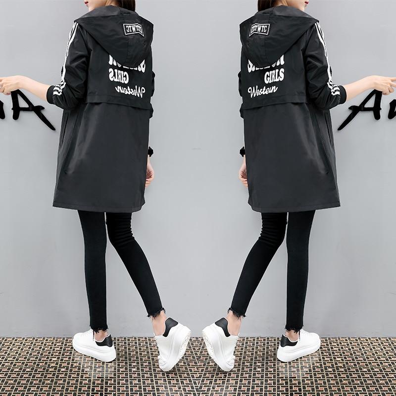 Plus bawełna gruba powłoka kobiety długie 2019 nowy jesień na co dzień płaszcz płaszcz kobiet w Trencze od Odzież damska na  Grupa 1