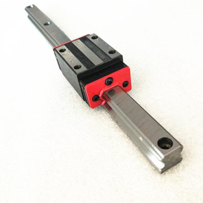 2 rails de guidage linéaires 15mm HGR15 hgh15ca hgw15ca + 1 sfu1605 écrou à billes boîtier toute longueur + support BK/BF12 + coupleurs pour CNC - 5