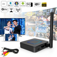 2.4G 5G HDMI+AV Screen Mirroring TV Stick Wireless WiFi Display Receiver Miracast DLNA For iPhone iPad IOS Android Phone to HDTV