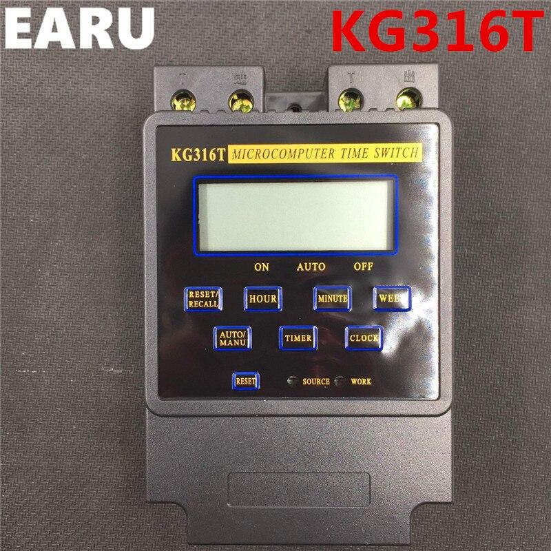 O Envio gratuito de New KG316T 25A Controlador Inteligente Do Microcomputador Temporizador Eletrônico Programável Tempo Interruptor do Relé AC 220 v 380 v