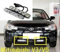 V3 V5 Mitsubish jazdy dziennej światła, LED, Uwalnia statek! 2 sztuk/zestaw + drutu, V3 V5 światła przeciwmgielne, Mitsubish V3 V5