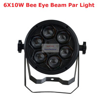 2017 Factory Price 1Pcs 60W Bee Eyes Beam Par Light 6X10W RGBW 4IN1 LED Par Lights For Stage Dj Disco Professional Party Show 24x lot rasha quad factory price 12 10w rgba rgbw 4in1 non wireless led flat par can disco led par light for stage event party