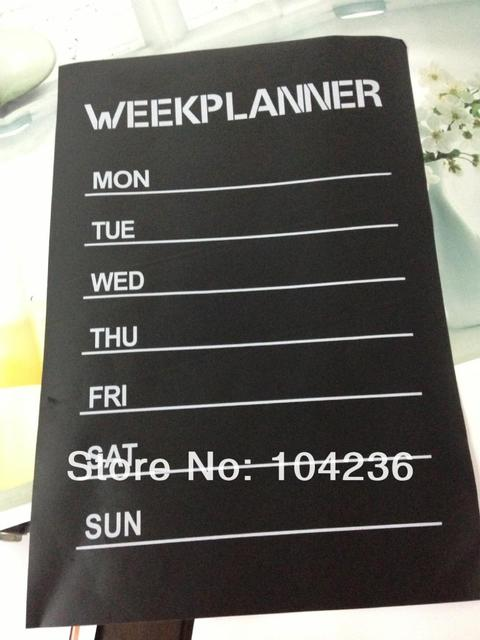 Week Planner Chalkboard Stickers Office Li Room Home Decorations Diy ...