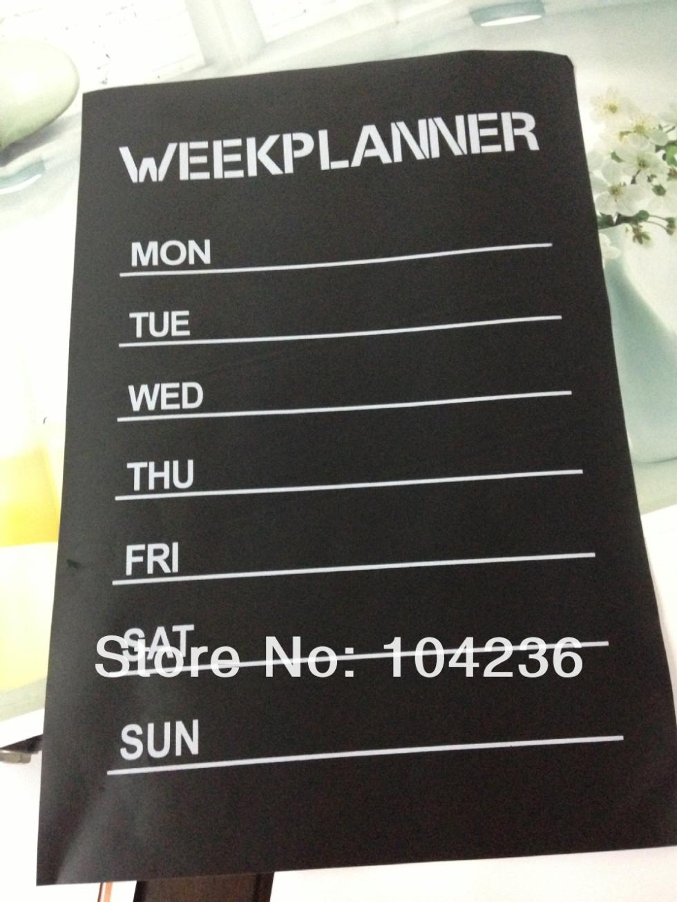 Week Planner Chalkboard Stickers Office Li Room Home Decorations Diy Nursery Note Labels Wall Decals Mural Art