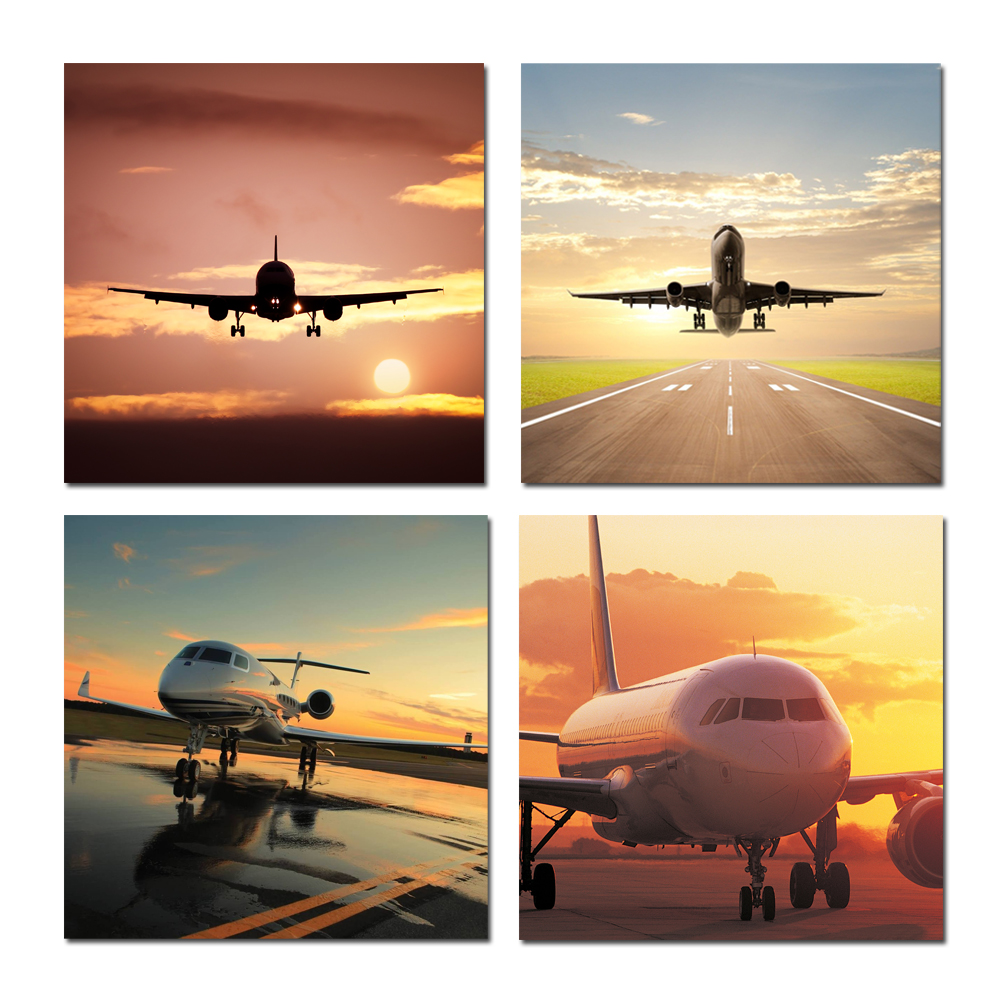 Drop Ship Modern Wall Art Airplane Landscape Picture