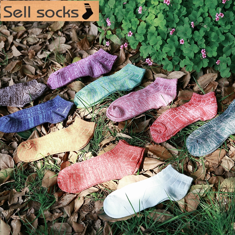 Clearance! 10 Colors  Brand New Japanese Rough Lines Women Casual  Ankle Cotton Socks Boat Sock Slippers Harajuku EUR35-40