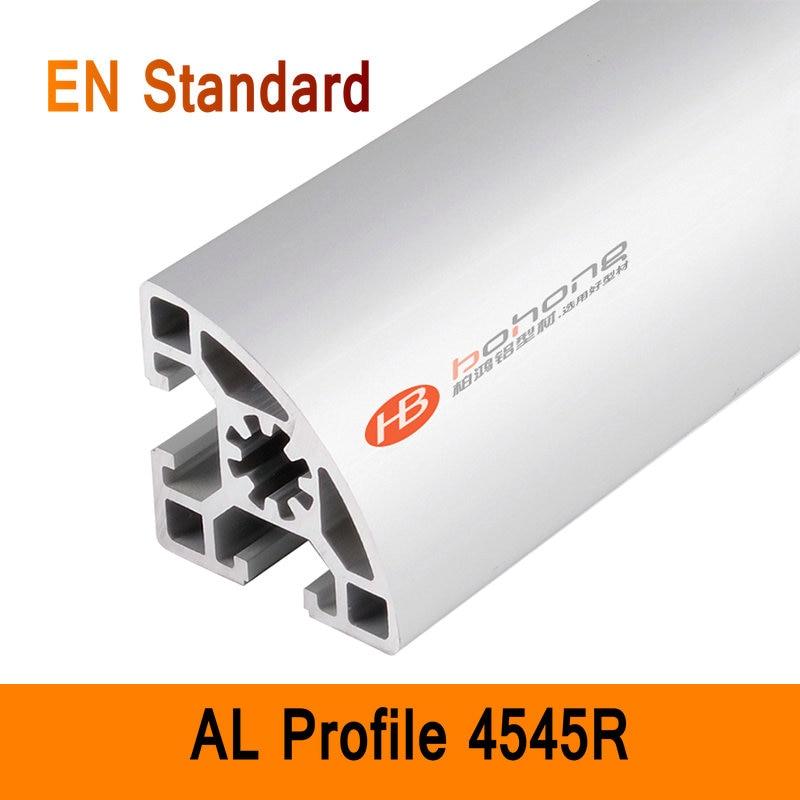 4545R Aluminium Profile EN Standard DIY Brackets AL DIY T-SLOTTED EXTRUSION 3D DIY Printer Parts T-slot Aluminum Round Pipe diy diy