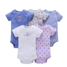 1a42a482862c 5 Pcs Short Sleeved Jumpsuit For Newborn Baby Rompers Baby Girl Clothes  Newborns Body Baby Onesie Stitch Romper Toddler Rompers