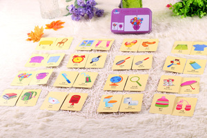 Image 4 - New Arrival Baby Toys Infant Early Head Start Training Puzzle Cognitive Card Vehicl/Fruit/Animal/Life Set Pair Puzzle Baby Gift