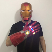Iron Man LED Gloves helmet Mask Cosplay Mask LED Mask halloween Cosplay Prop the avengers iron man helmet cosplay touch sensing mask with led light marvel superhero iron man adult motorcycle abs helmet