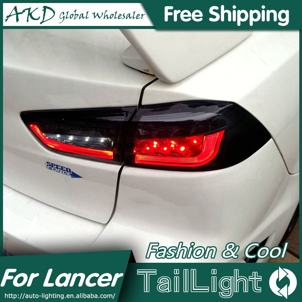 AKD Car Styling Tail Lamp for Mitsubishi Lancer EX Tail Lights Lancer LED Tail Light BMW Design Rear Lamp DRL+Brake+Park+Signal