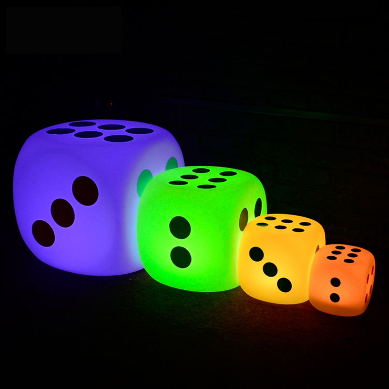 Craps créatif LED veilleuse étanche cube chaise 15 cm 20 cm 30 cm Rechargeable bar lampe luminaires café KTV magasin décor éclairage