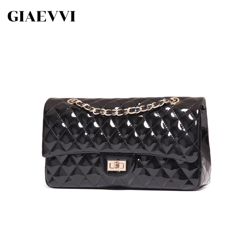 GIAEVVI Luxury Handbags Split Leather Tote Women Messenger Bags 2017 Brand Design Chain Women Shoulder Bag Crossbody for Girls fashion matte retro women bags cow split leather bags women shoulder bag chain messenger bags