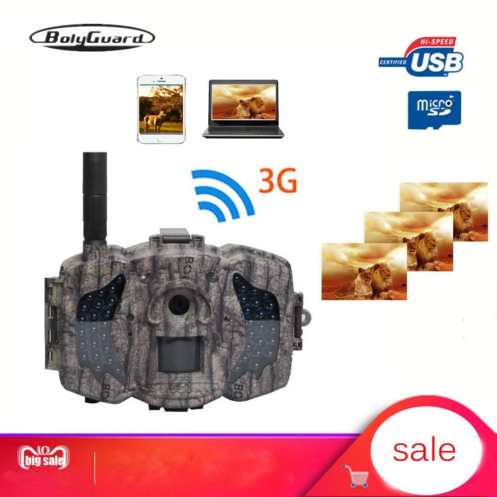 Bolyguard 3G caza Trail cámara de juego 36MP 1080PH cámara inalámbrica trampa de fotos 100ft SMS MMS GPRS Cámara salvaje chass la imagen térmica