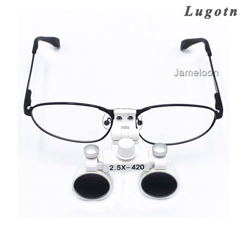 2.5X times magnascope amplify magnifying removable glasses loupe operating magnifier adjustable angle dental loupe westcode section 2 5 times a magnifying glass root canal therapy glasses atomization