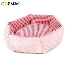 New Arrival Soft Dog pink House Bed Pet Cat Nest Round Sofas Warm Kennel chihuahua Beds Products