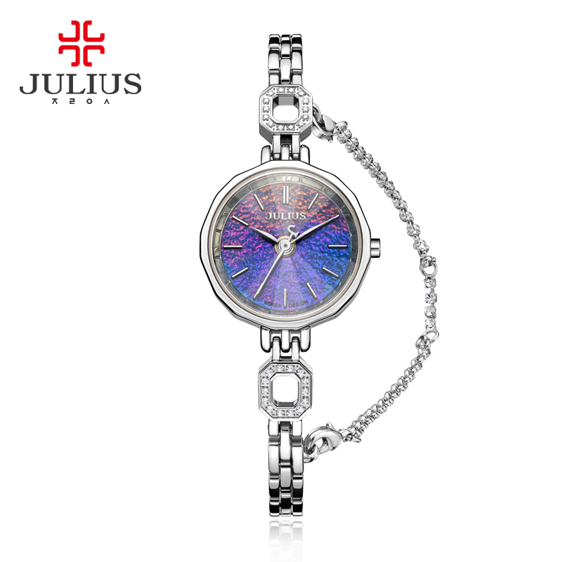 Julius Lady Women's Watch Japan Quartz Fashion Hour Clock Stainless Steel Chain Bracelet Top Girl Valentine Birthday Gift small julius lady women s watch japan quartz fashion hours tassel clock chain bracelet top girl s valentine birthday gift box
