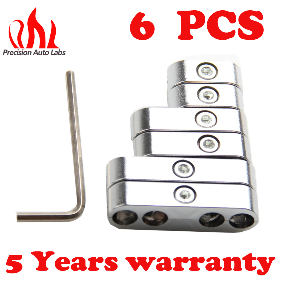 PRECISION AUTO LABSHot Sell 7mm 8mm Chrome Spark Plug Wire Separators Dividers Looms For Ford For Chevy For Auto Spark Plug