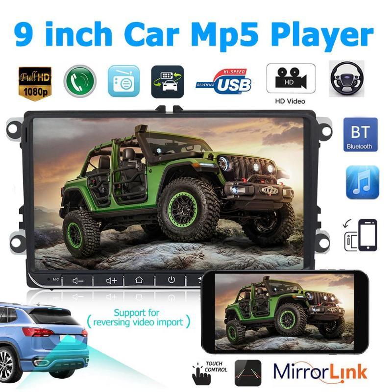 2 DIN DAB + Radio unité de tête 9 pouces Bluetooth voiture stéréo récepteur USB pour Passat Golf MK5 MK6 Jetta T5 EOS POLO Touran siège Sharan