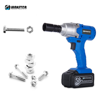 Lanxstar High Power Cordless Electric Impact Wrench Lithium Battery Drill Multifunctional Charging Power Tool 2PCS Battery