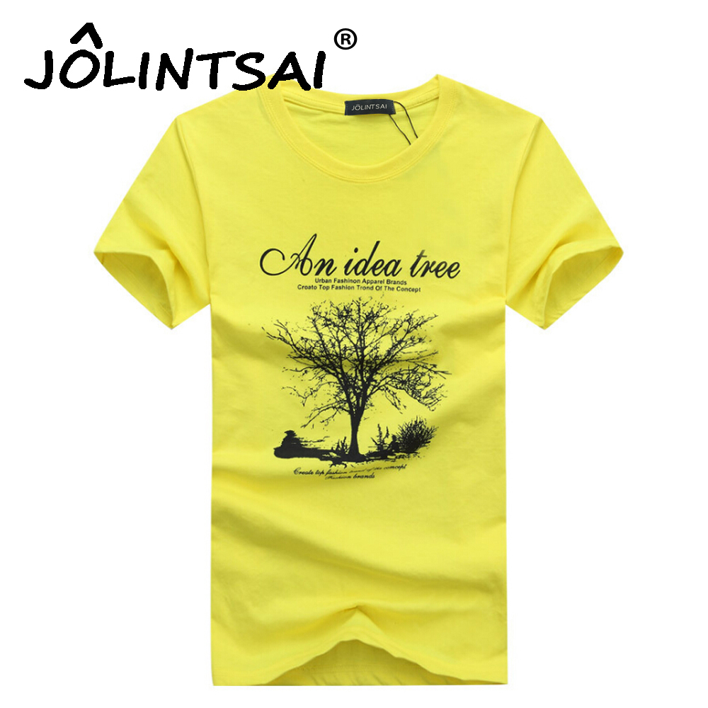 2017 Fashion An Idea Tree Print T Shirt Men Cotton O neck Summer Style Tshirt Casual