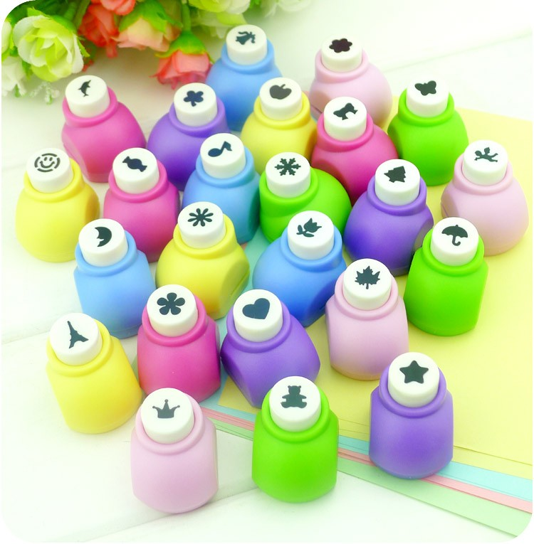1pc card Children punch for drawing set Kids color paper stickers punch for art craft handmade