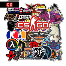 50 шт., наклейки на тему игры CS GO Counter Strike, для гитары, фотоальбомов, багажа, ноутбука, доски, скейтборда, велосипеда, холодильника