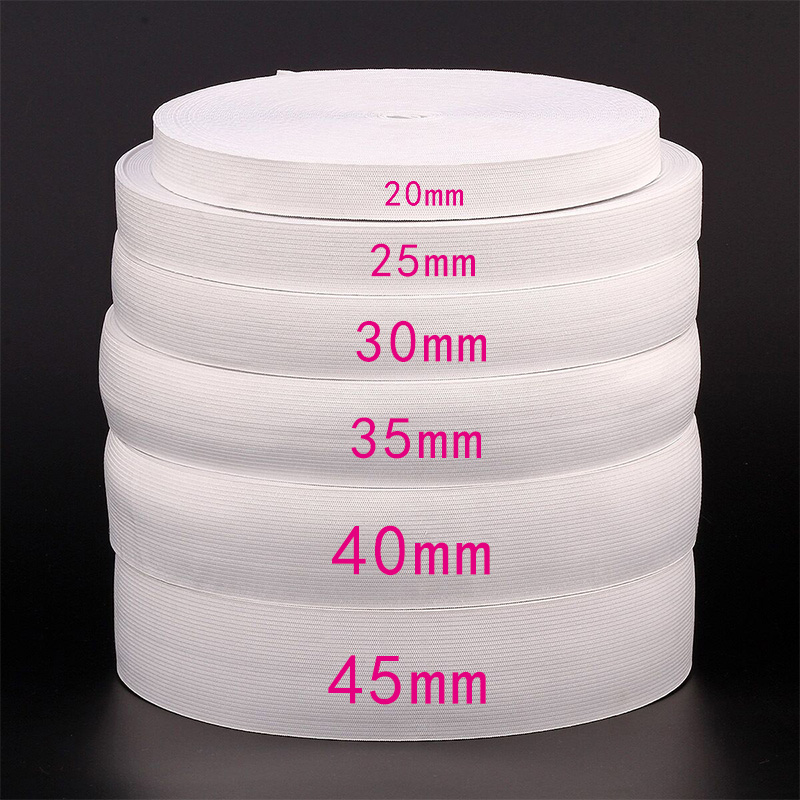 1 meters Wide 6/20/25/30/35/40/45/50MM Nylon Highest <font><b>Elastic</b></font> Bands for Garment Flat Tape Webbing Trousers Sewing Accessories DIY image