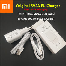Cargador USB Xiaomi Original adaptador de corriente 5V 2A y cables para Red mi 4 4X 4A 5A Note 3 5 6 plus pro mi 5 6 4 3 2 mi/6/5 4c 4S(China)