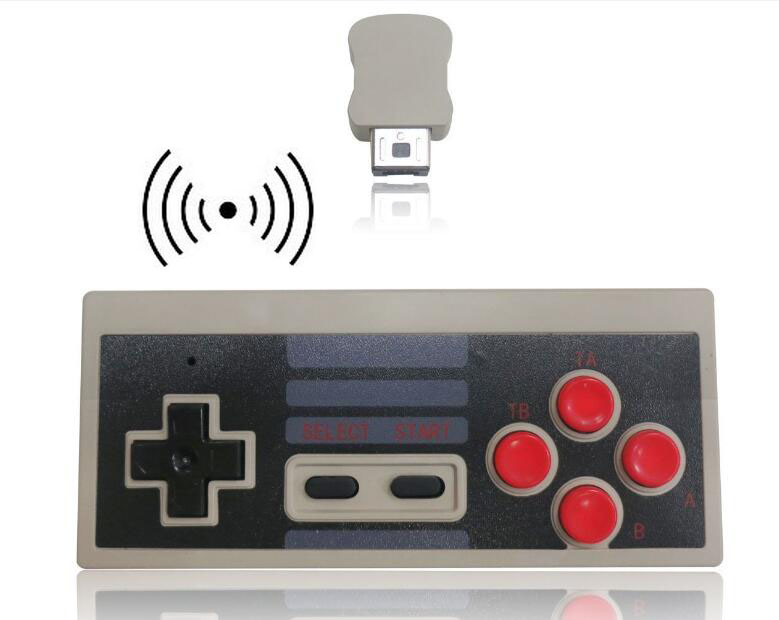 New Plug and Play Gaming Wireless Turbo Controller for NES Classic Edition font b Gamepad b