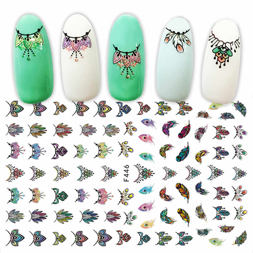 Moda chica 3D aplique de uñas con diseño adhesivo para uñas arte de uñas papel Ofing se prueba ll501
