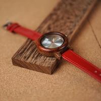 Reloj madera para mujer pulso cuero colores 3