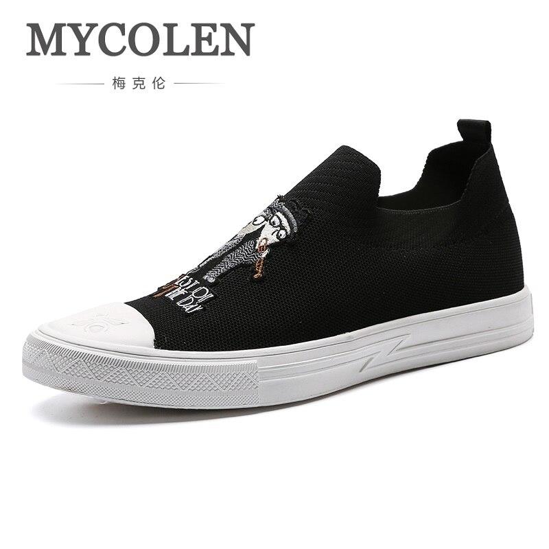 Zapatillas Hombre New Mycolen En Casual Top Noir Lacets Hommes À Plates Cuir Black High Hiver Véritable Respirant Chaussures nZqnav