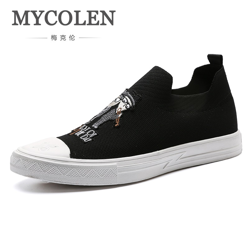 MYCOLEN New High Top Winter Casual Men Shoes Lace-up Breathable Men Shoes Genuine Leather Black Flat Shoes Zapatillas Hombre коробка рыболовная tsuribito tr2065