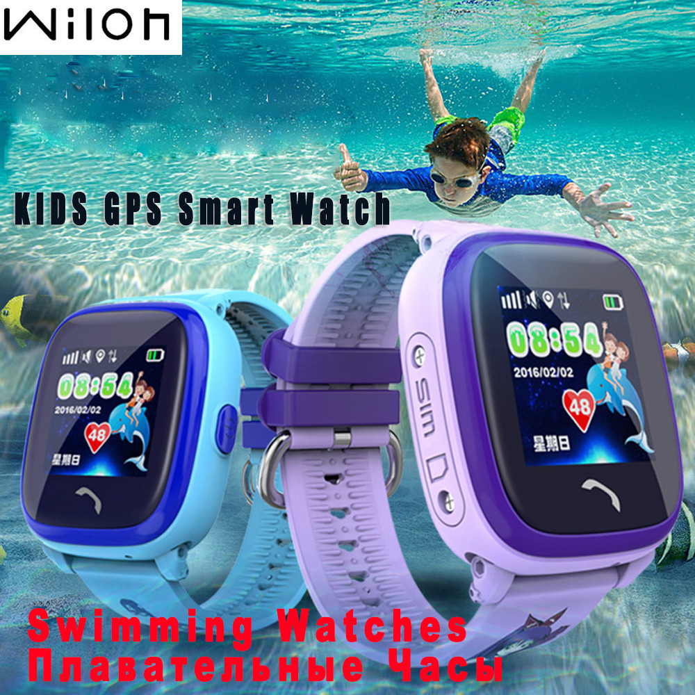 Waterproof GPS Tracker Watch For Kids Swim touch screen SOS Emergency Call Location smart watch DF25