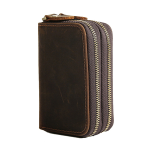 Image 3 - CICICUFF Genuine Leather Key Case Vintage Leather Car Key Wallets with 6 Key Holder Keys Organizer Housekeeper Pouch Men Large