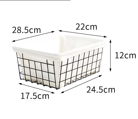 1 PCS Iron Makeup Organizer With Lining Cloth Box Cosmetic Organizer Makeup Box Lipstick Makeup Storage Bathroom Table Organizer in Makeup Organizers from Home Garden