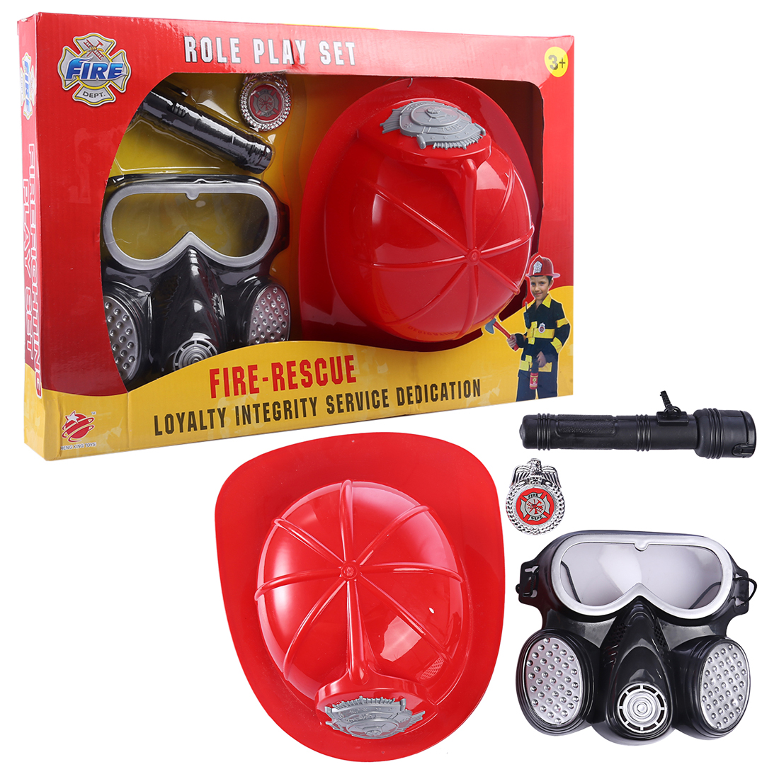 Surwish Children Pretend Play Toys Fire Protection Set Educational Gift Set