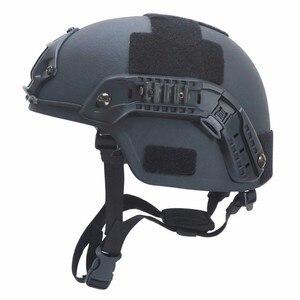 Image 1 - Paintball airsoft balístico capacetes de proteção mich 2000 nij iiia aramid cabeça à prova de balas capacete proteção para a caça airsoft