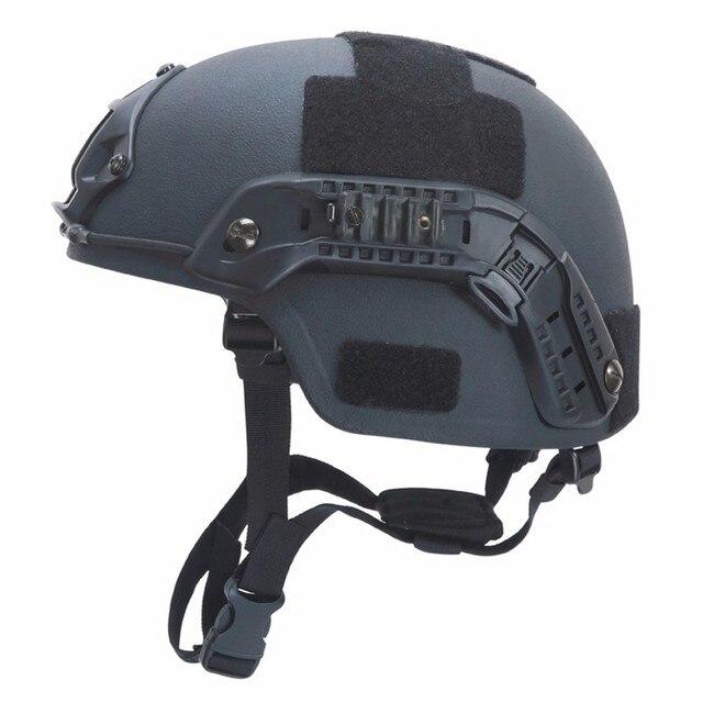 Paintball airsoft balístico capacetes de proteção mich 2000 nij iiia aramid cabeça à prova de balas capacete proteção para a caça airsoft