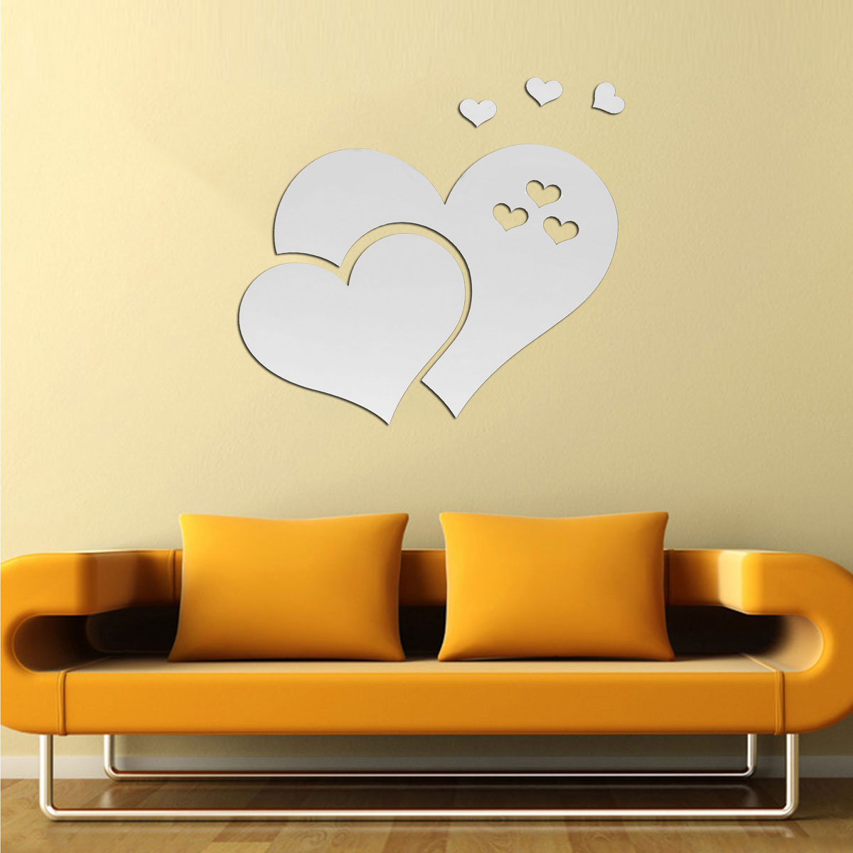 Plastic 3D Diamond Mirror Wall Stickers Home Decorations Living Room ...