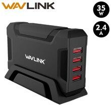 Зарядное устройство Wavlink с 4 USB портами, портативное зарядное устройство USB для путешествий, адаптер стандартного размера, универсальное зарядное устройство для путешествий для iPhone, Samsung