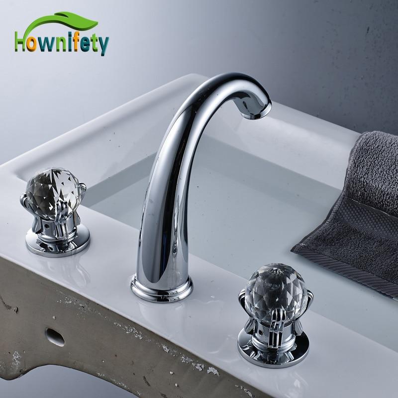 Newly Polish Chrome Two Crystal Handles Basin Mxer Tap Bathroom Sink Faucet Elegant Water Tap комплектующие для раковин hangzhou elegant bathroom 88888